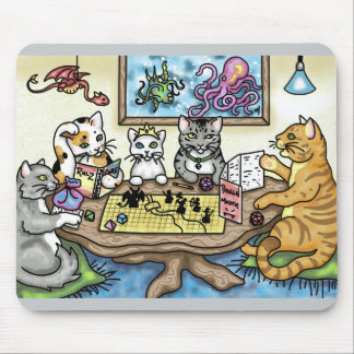 Gatos que juegan el pionero de Carrie Michael Tapete De Ratón