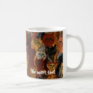 ¡gatos - queremos té! taza de café