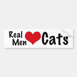 Gatos reales #2 del amor de los hombres pegatina para auto