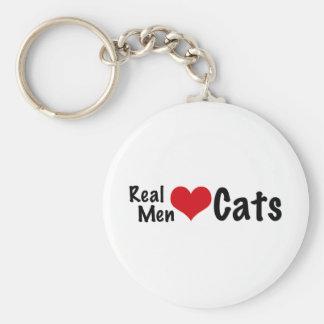 Gatos reales #2 del amor de los hombres llavero redondo tipo pin