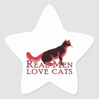 Gatos reales 2 del amor de los hombres pegatinas forma de estrellaes personalizadas
