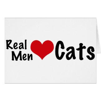 Gatos reales #2 del amor de los hombres tarjeta de felicitación