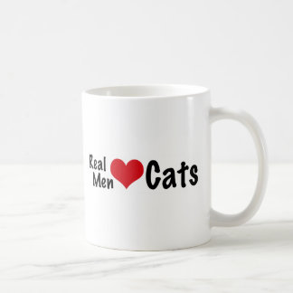 Gatos reales #2 del amor de los hombres taza básica blanca