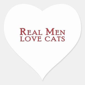 Gatos reales 3 del amor de los hombres pegatinas de corazon