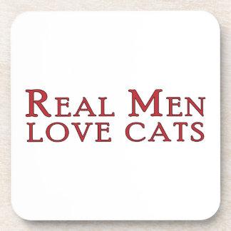 Gatos reales 3 del amor de los hombres posavasos de bebidas