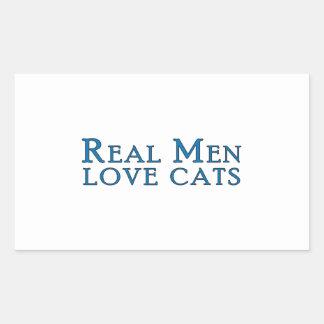 Gatos reales 4 del amor de los hombres rectangular pegatinas