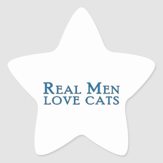 Gatos reales 4 del amor de los hombres pegatinas forma de estrella personalizadas