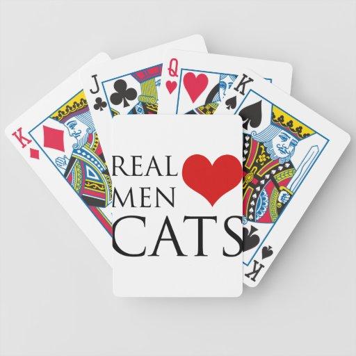 Gatos reales del amor de los hombres barajas de cartas