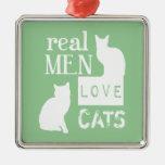 Gatos reales del amor de los hombres (disponibles  ornamento para reyes magos