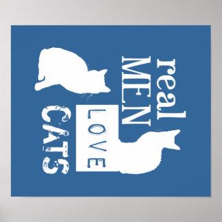 Gatos reales del amor de los hombres (disponibles póster