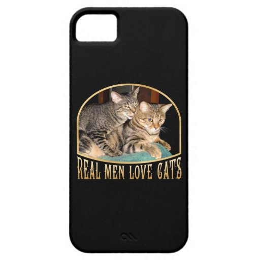 Gatos reales del amor de los hombres funda para iPhone 5 barely there