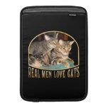 Gatos reales del amor de los hombres funda para macbook air
