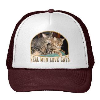 Gatos reales del amor de los hombres gorros bordados
