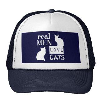 Gatos reales del amor de los hombres gorras