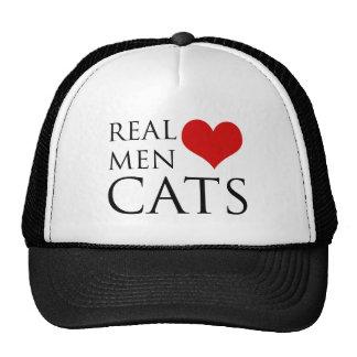 Gatos reales del amor de los hombres gorro de camionero