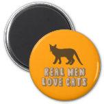 Gatos reales del amor de los hombres iman de frigorífico