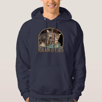 Gatos reales del amor de los hombres jersey encapuchado