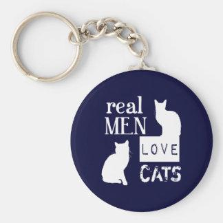 Gatos reales del amor de los hombres llavero redondo tipo pin
