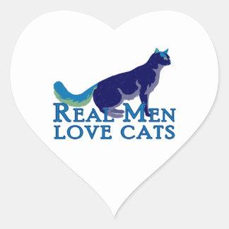 Gatos reales del amor de los hombres colcomanias corazon