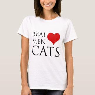 Gatos reales del amor de los hombres playera