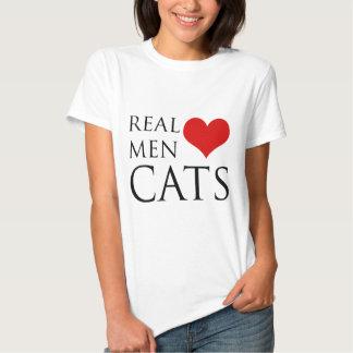 Gatos reales del amor de los hombres poleras