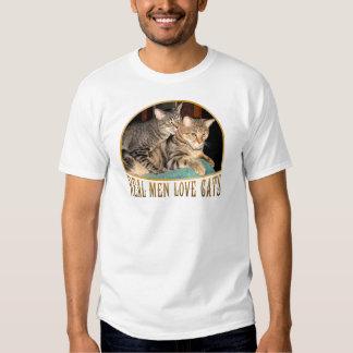 Gatos reales del amor de los hombres remeras