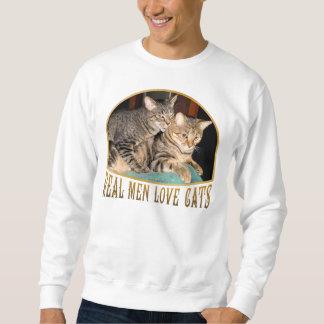 Gatos reales del amor de los hombres sudadera