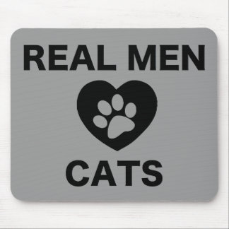 Gatos reales del amor de los hombres tapete de ratón