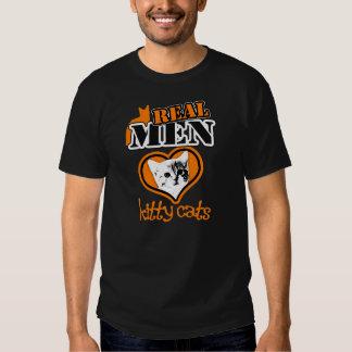 Gatos REALES del gatito del amor de los hombres… Poleras
