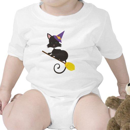 Gatos retros de Halloween Camisetas