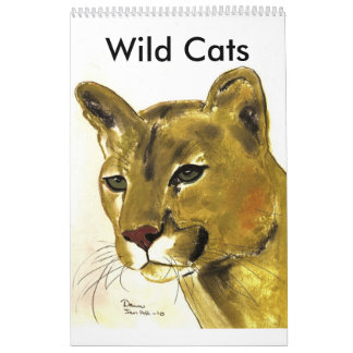 Gatos salvajes, salvajes calendario de pared