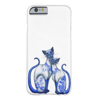 Gatos siameses del sauce azul funda de iPhone 6 barely there