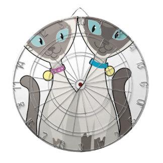 Gatos siameses tablero de dardos