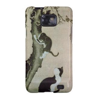Gatos, siglo XVII (tinta en la seda) Samsung Galaxy S2 Carcasa