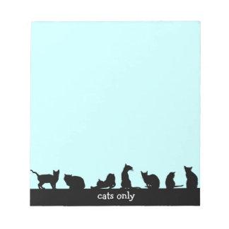 gatos solamente bloc de papel