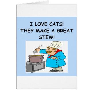 gatos tarjeta