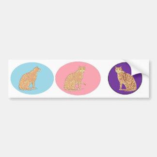 Gatos, tres, en productos de los varios pegatina de parachoque