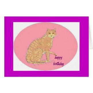 Gatos, tres, en productos de los varios tarjeta de felicitación