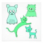 Gatos verdes anuncio personalizado