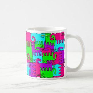"""Gatos """"vino del rompecabezas de la baya del saúco taza de café"""