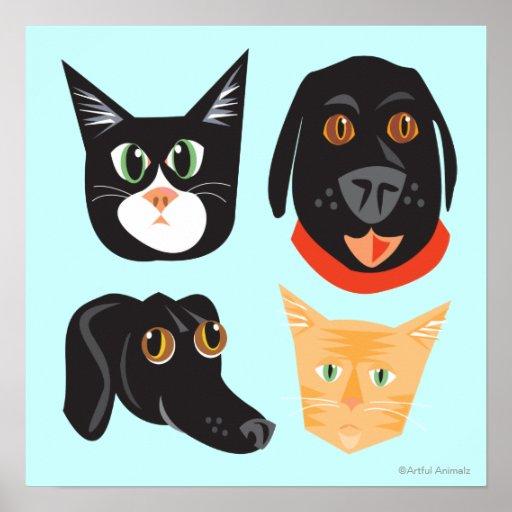 Gatos y amigos reinantes de Dogs_Frisky Póster