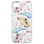 Gatos y ballenas iPhone 5 Case-Mate fundas