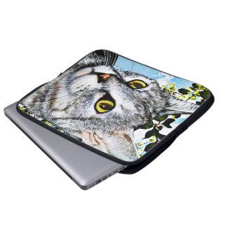Gatos y bolso de la electrónica de la plena florac mangas computadora