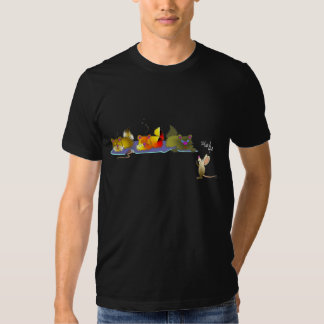 Gatos y camiseta del ratón camisas