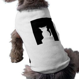 Gatos y camisetas de los gatos y del perrito de lo camisetas mascota