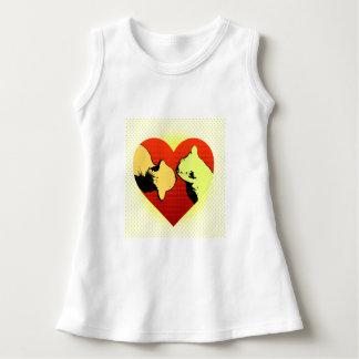 Gatos y corazones para las niñas camisas