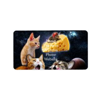 Gatos y el ratón en el queso etiquetas de dirección
