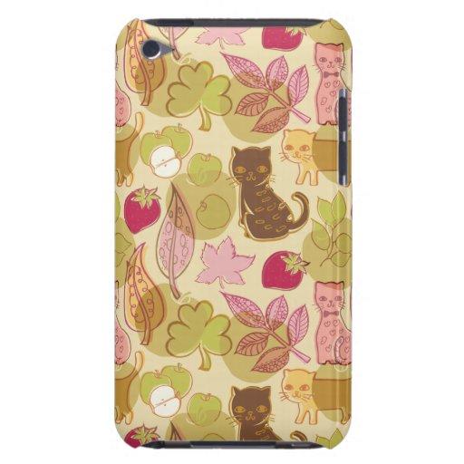 Gatos y fruta iPod touch protectores