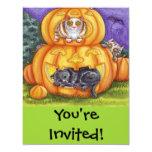 gatos y Jack-o-linternas caprichosos de Halloween Anuncio