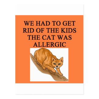 gatos y niños postales